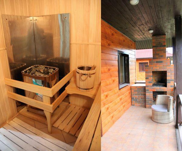 Каждая сауна в Линкер Парк оборудована каменным мангалом для приготовления шашлыка или мяса на гриле