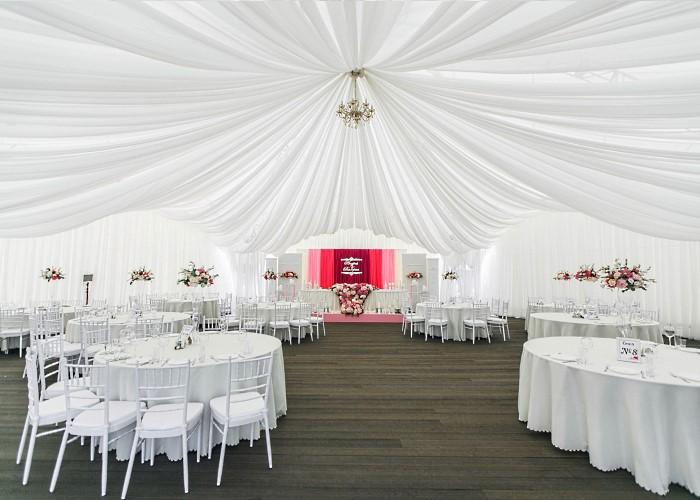 Свадьба в арочном шатре Apart Hotel Линкер Парк вместимостью до 100 чел. проводится с 15 мая по 15 сентября