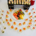 Образец сервировки праздничного стола для свадьбы или банкета в ресторане Линкер Парк
