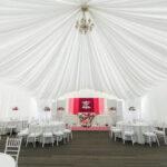 Убранство зала на свадьбе в арочном шатре на территории Apart Hotel Линкер Парк, фото 5