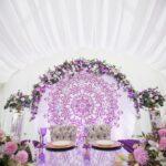 Место для новобрачных на свадьбе в арочном шатре на территории Apart Hotel Линкер Парк, фото 8