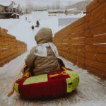 В Линкер Парк установлена большая двускатная горка, на которой с удовольствием катаются и взрослые, и дети, фото 8
