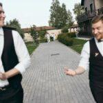 Жених и ведущий свадьбы Антона и Лены на территории Apart Hotel «Линкер Парк», фото 14