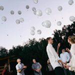 Запуск воздушных шаров в конце свадебной программы на свадьбе Антона и Лены в Apart Hotel «Линкер Парк», фото 25